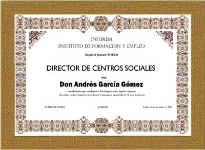 Curso de Director de centros sociales (homologado) para estudios sociales centro
